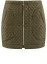 Юбка из фактурной ткани с молнией спереди oodji для женщины (зеленый), 11600410/38325/6800N