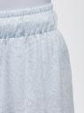 Брюки домашние принтованные oodji для женщины (синий), 59807010-5/46154/7010E