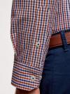 Рубашка хлопковая в клетку oodji для мужчины (красный), 3L110319M/47823N/7945C - вид 5