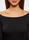 Футболка с открытыми плечами (комплект из 3 штук) oodji для женщины (черный), 14207007T3/46867/2900N