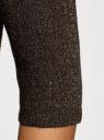 Джемпер свободного силуэта с широким вырезом oodji для женщины (черный), 63812566-1/46636/2993X