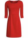 Платье трикотажное с рукавом 3/4 oodji для женщины (красный), 24001048-1/16564/4500N