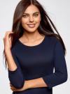 Платье трикотажное с вырезом-капелькой на спине oodji #SECTION_NAME# (синий), 24001070-5/15640/7900N - вид 4