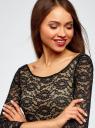 Трикотажное платье oodji для женщины (черный), 14011003/45124/2900N