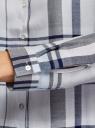 Блузка принтованная из вискозы oodji #SECTION_NAME# (серый), 11411098-4/45208/2079C - вид 5