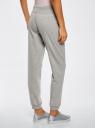 Комплект трикотажных брюк (2 пары) oodji #SECTION_NAME# (серый), 16700030-15T2/46173/2375N - вид 3