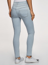 Джинсы skinny с завышенной посадкой oodji для женщины (синий), 12104053-2B/46785/7000W