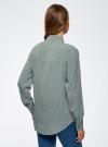 Блузка прямого силуэта с нагрудным карманом oodji #SECTION_NAME# (зеленый), 11411134B/46123/6E12G - вид 3