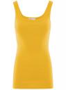 Майка базовая oodji для женщины (желтый), 14315001B/46174/5200N