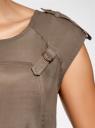 Платье вискозное на кулиске oodji для женщины (коричневый), 21901142/45804/3700N