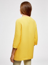 Пальто из фактурной ткани на крючках oodji #SECTION_NAME# (желтый), 10103015-1/46409/5200N - вид 3