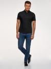 Рубашка базовая с коротким рукавом oodji для мужчины (черный), 3B240000M/34146N/2900N - вид 6