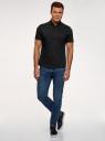 Рубашка базовая с коротким рукавом oodji #SECTION_NAME# (черный), 3B240000M/34146N/2900N - вид 6