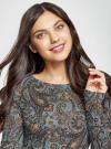 Платье трикотажное с этническим принтом oodji для женщины (синий), 24001070-4/15640/2537E - вид 4