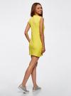Платье из ткани пике oodji #SECTION_NAME# (желтый), 14005074-1/45602/5200N - вид 3
