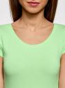 "Футболка с вырезом ""капелька"" на спине oodji для женщины (зеленый), 14701026/46147/6A00N"