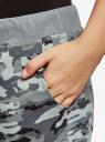 Брюки трикотажные на завязках oodji #SECTION_NAME# (серый), 16701042B/46919/2025O - вид 5