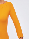 Футболка с рукавом 3/4 oodji #SECTION_NAME# (оранжевый), 24201010B/46147/5200N - вид 5