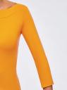 Футболка с рукавом 3/4 oodji для женщины (оранжевый), 24201010B/46147/5200N