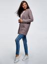 Кардиган из фактурной ткани с накладными карманами oodji #SECTION_NAME# (розовый), 19201003/47208/4B12N - вид 6