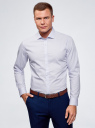 Рубашка приталенная с графическим принтом oodji #SECTION_NAME# (синий), 3L310120M/34156N/1070G - вид 2