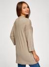 Кардиган без застежки с карманами oodji для женщины (бежевый), 73212397B/45904/3300M - вид 3