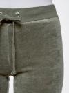 Брюки спортивные на завязках oodji для женщины (зеленый), 16701051B/47883/6800N - вид 5