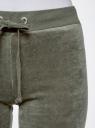 Брюки спортивные на завязках oodji для женщины (зеленый), 16701051B/47883/6800N