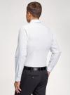 Рубашка базовая из хлопка oodji для мужчины (белый), 3B110016M-1/44425N/1075D - вид 3