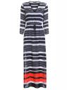 Платье макси шифоновое oodji для женщины (белый), 21911018/17358/1079S