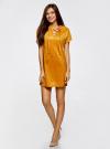 Платье из искусственной замши с завязками oodji #SECTION_NAME# (оранжевый), 18L00001/45778/5200N - вид 6