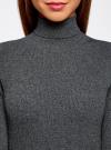 Платье вязаное с вырезом-капелькой на спине oodji #SECTION_NAME# (серый), 63912225/46999/2500M - вид 4