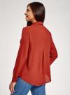 Блузка базовая из вискозы с нагрудными карманами oodji #SECTION_NAME# (красный), 11411127B/26346/4501N - вид 3