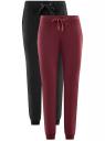 Комплект трикотажных брюк (2 пары) oodji #SECTION_NAME# (разноцветный), 16700030-15T2/47906/19NCN