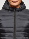Куртка стеганая с капюшоном oodji #SECTION_NAME# (синий), 1B112009M/25278N/7900N - вид 4