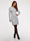 Платье базовое из вискозы с пуговицами на рукаве oodji #SECTION_NAME# (серый), 73912217-1B/33506/2000M - вид 6