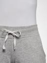 Брюки трикотажные спортивные oodji для женщины (серый), 16700030-9B/42484/2000M