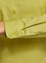 Рубашка базовая с нагрудными карманами oodji #SECTION_NAME# (зеленый), 11403222B/42468/6A01N - вид 5