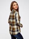 Блузка принтованная из вискозы oodji для женщины (коричневый), 11411098/45208/6679C