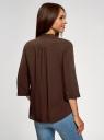 Блузка вискозная с нагрудными карманами oodji #SECTION_NAME# (коричневый), 11403225-7B/42540/3900N - вид 3
