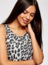 Платье без рукавов с асимметричным низом oodji для женщины (черный), 21901109-2/17288/2910A