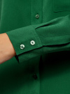 Блузка прямого силуэта с нагрудным карманом oodji #SECTION_NAME# (зеленый), 11411134B/46123/6E00N - вид 5