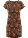 Платье прямое базовое oodji #SECTION_NAME# (коричневый), 22C01001-1B/45559/2955E