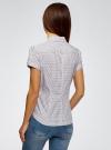 Рубашка хлопковая с коротким рукавом oodji #SECTION_NAME# (белый), 13K01004-3B/48461/1041G - вид 3