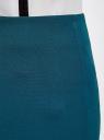 Юбка прямая с завышенной талией oodji для женщины (бирюзовый), 21601259-1/31291/7400N