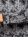 Блузка с вырезом-капелькой и металлическим декором oodji #SECTION_NAME# (черный), 21400396/38580/2912O - вид 5