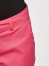 Шорты базовые с отворотами oodji для женщины (розовый), 11806020B/32887/4D00N - вид 4
