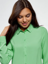 Блузка базовая из вискозы oodji #SECTION_NAME# (зеленый), 11411136B/26346/6500N - вид 4