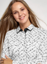 Блузка свободного силуэта из струящейся ткани oodji для женщины (белый), 11401282/46123/1229O