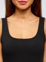 Платье-майка трикотажное облегающее oodji для женщины (черный), 14001210/48152/2900N